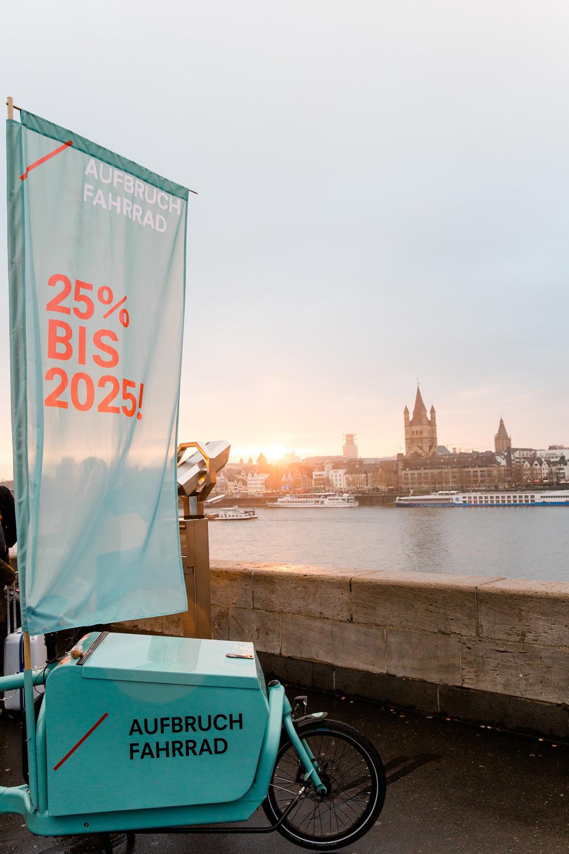 Kampagne für die Volksinitiative AUFBRUCH FAHRRAD (© verenafotografiert.de)